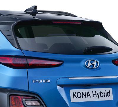 Dettaglio dello spoiler posteriore di Hyundai Kona Hybrid