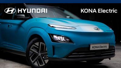 Visning av design og egenskaper til elbilen KONA Electric. Video.