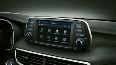 """Photo of the 7"""" display Audio system."""