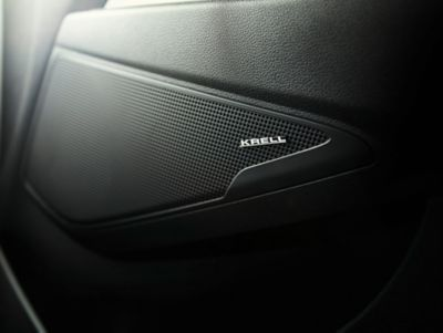 Image showing the KRELL speakers in a new Hyundai Tucson.