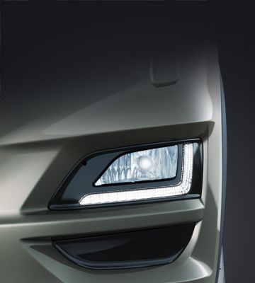 Detail view of the new Hyundai Tucson's Daytime Lights