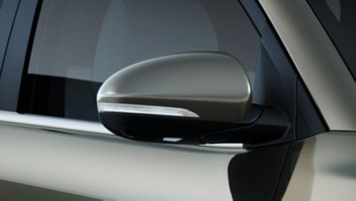 Detail view of the new Hyundai Tucson's mirror repeaters.