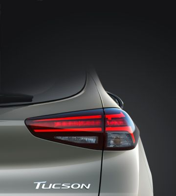 Detail view of the new Hyundai Tucson's rear combination lights.