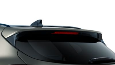 Detail view of the new Hyundai Tucson's rear spoiler.
