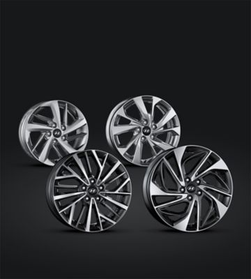 Detail view of the new Hyundai Tucson's alloy wheels.