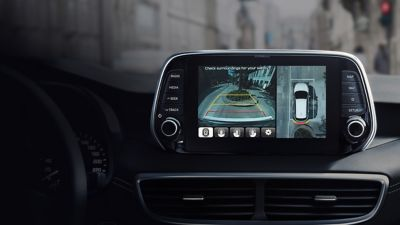 Photo of the Surround View Monitor of the new Hyundai Tucson.