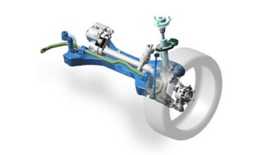 Image showing the McPherson strut front suspension.