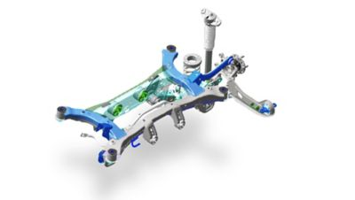Image showing the multi-link rear suspension.