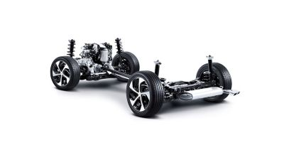 Image showing the All-Wheel Drive System of the new Hyundai Tucson.
