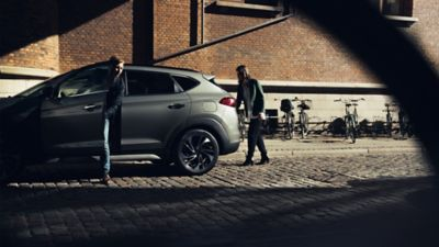 Photo showing the side of the new Hyundai Tucson.
