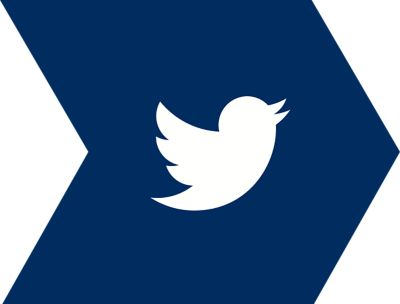 Twitter icon on arrow