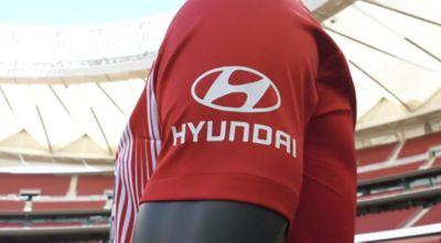 Wideo przedstawiające partnerstwo pomiędzy Hyundai a klubem Atlético de Madrid.