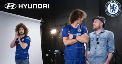 Wideo przedstawiające partnerstwo pomiędzy Hyundai a klubem Chelsea FC.