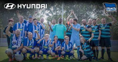 Wideo przedstawiające partnerstwo pomiędzy Hyundai a klubem Hertha BSC Berlin.