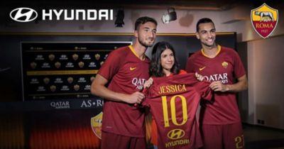 Wideo przedstawiające partnerstwo pomiędzy Hyundai a klubem AS Roma.