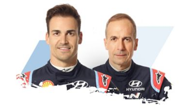 Hyundai Motorsport driver and co-driver Dani & Carlos