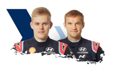Hyundai Motorsport driver and co-driver Ott & Martin