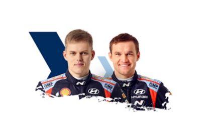 Hyundai Motorsport driver Ott Tänak & co-driver Martin Järveoja