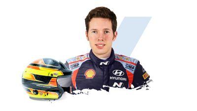 Hyundai Motorsport co-driver Martijn Wydaeghe and helmet.