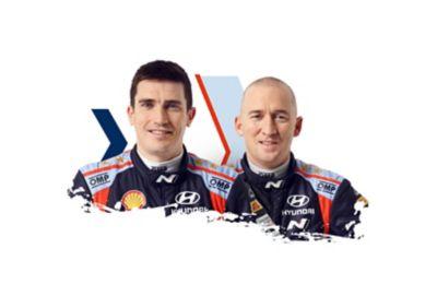 Hyundai Motorsport driver Craig Breen & co-driver Paul Nagle