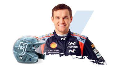Hyundai Motorsport Martin Järveoja and his helmet