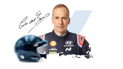 Hyundai Motorsport co-driver Carlos del Barrio and his signature