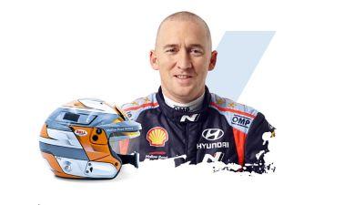 Hyundai Motorsport co-driver Paul Nagle and his helmet.