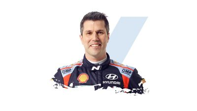 Hyundai Motorsport co-driver Borja Rozada.