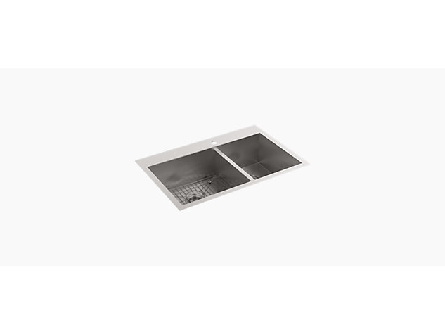 Caxton 483mm under-mount vessel basin with glazed underside and clamp assembly