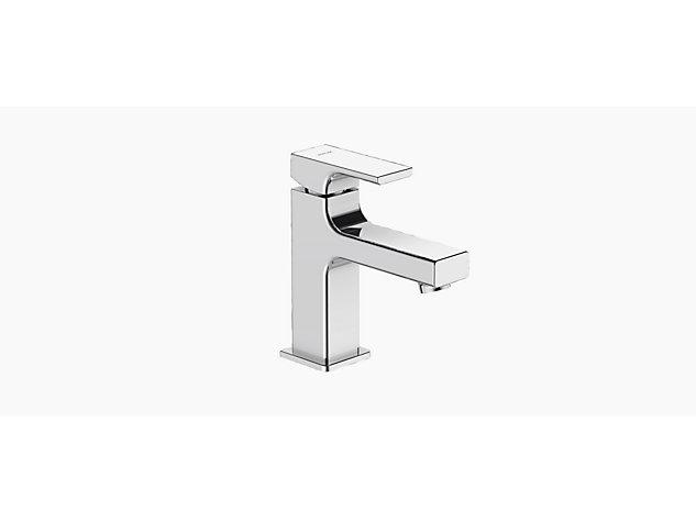 Strayt mini Monobloc basin mixer no pop-up waste