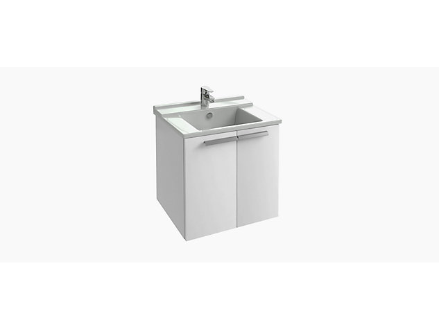 Base unit for 600mm Washbasin Vanity top 2 door