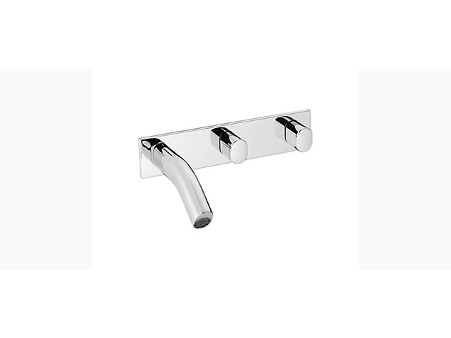 Oblo 2-handle 3-hole wall-mount basin mixer
