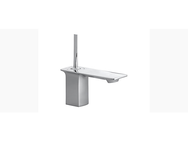 Stance Single-lever monobloc basin mixer with clicker waste