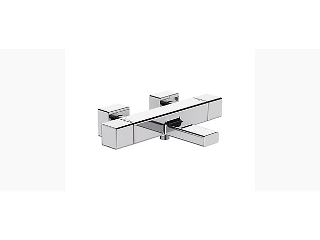 Strayt Thermostatic 2-handle 2-hole wall-mount bath shower mixer