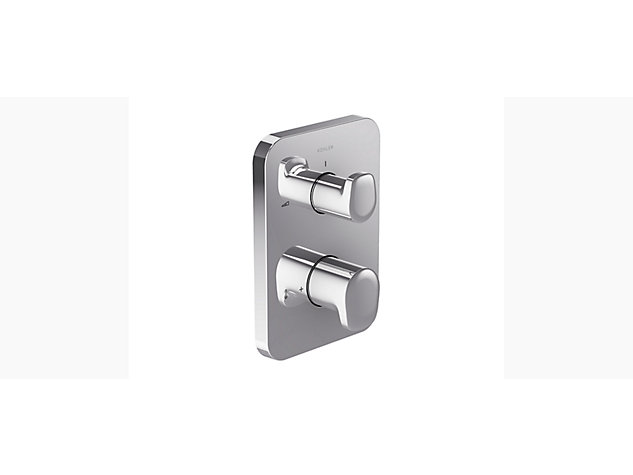 Aleo Modulo With Modulo thermostatic built-in shower valve trim with temperature and flow control-trim only