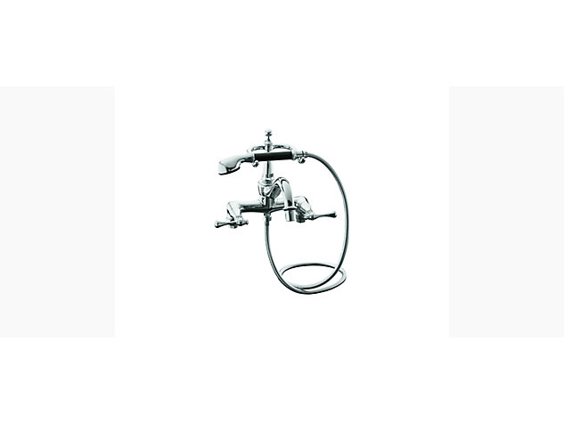 Revival Floor-mount bath filler with handshower