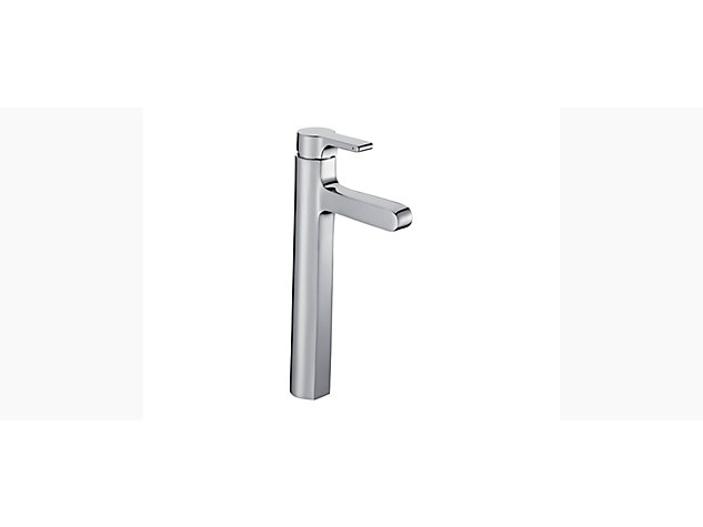 Singulier Tall single-lever monobloc basin mixer with clicker waste