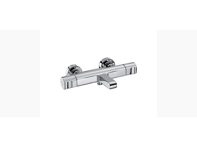 Singulier Thermostatic 2-handle 2-hole wall-mount bath shower mixer