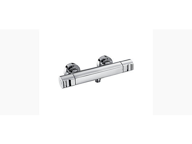Singulier Thermostatic exposed shower bar valve