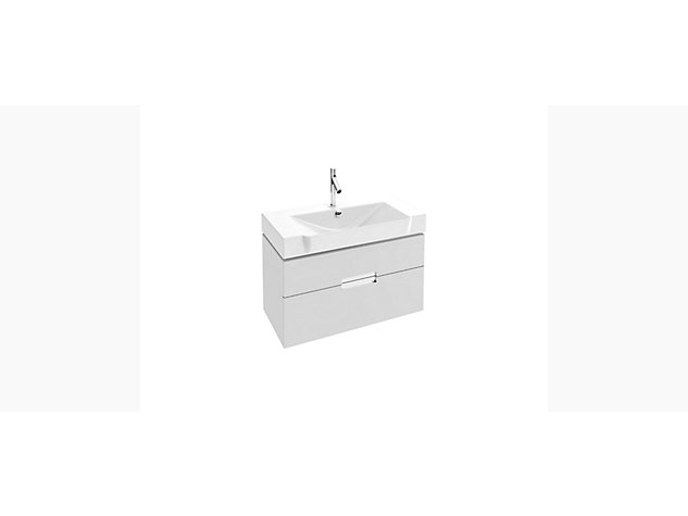 Reve Base unit for 800mm Compact Washbasin Vanity top 2 drawer
