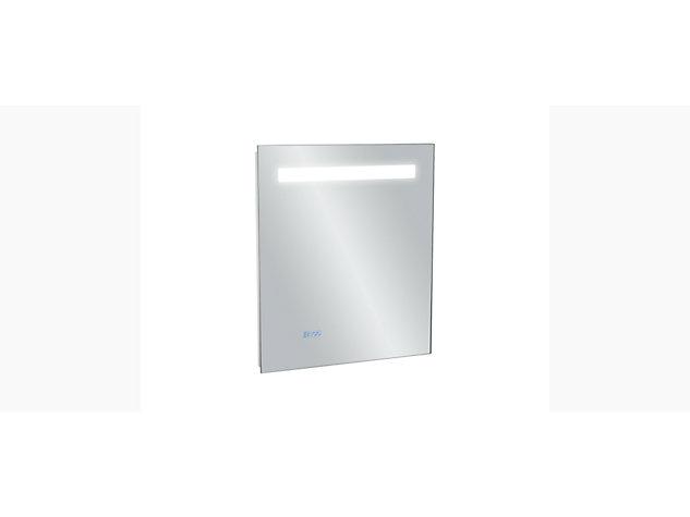 Cross range 550mm Backlit Anti-steam mirror with clock