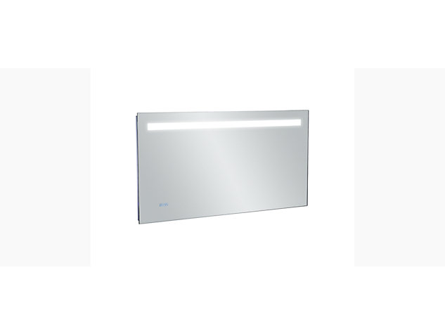 Cross range 1200mm Backlit Anti-steam mirror with clock