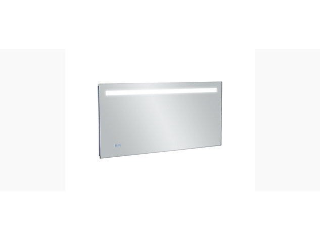Cross range 1300mm Backlit Anti-steam mirror with clock