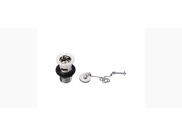 Basin waste plug and chain