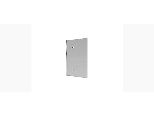 Minima Hinged Twin Panel bath screen