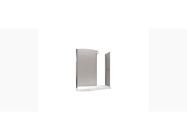 Skyline 1400mm walk-in enclosure with end panel