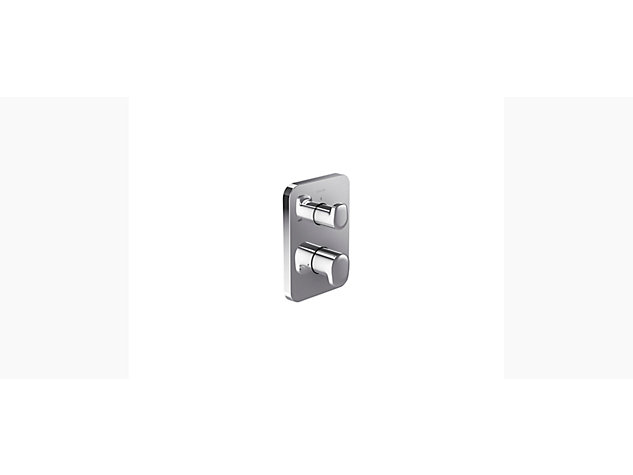 Aleo Modulo With Modulo thermostatic built-in single sequential shower valve with 2 way diverter - trim only
