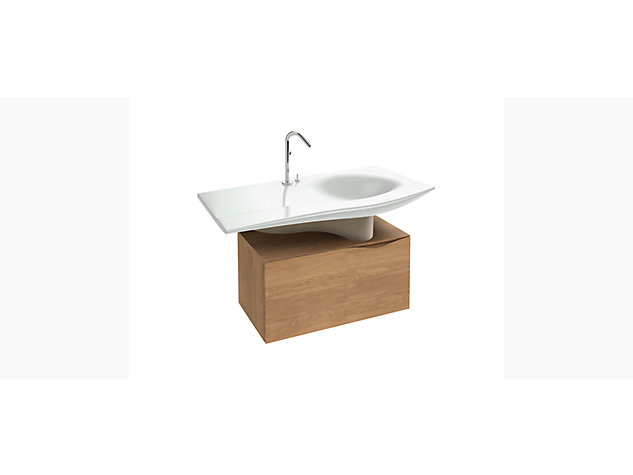 Stillness 800mm base unit for 1200mm Washbasin Vanity top 1 drawer 1 internal drawer  Includes metal shroud