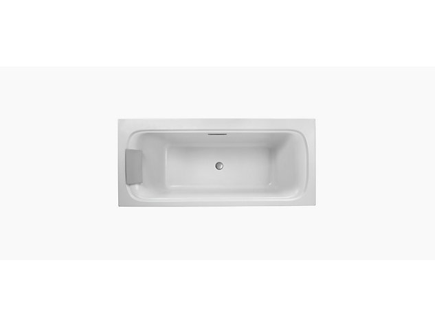 Flote double ended 1800 mm bath round overflow