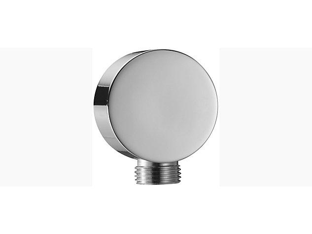 Cross range circular wall mount outlet elbow
